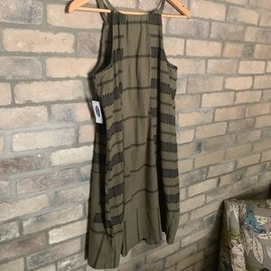 Olive green casual dress